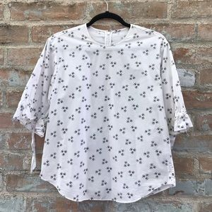 White Blouse Other Stories Cotton Butterfly Print